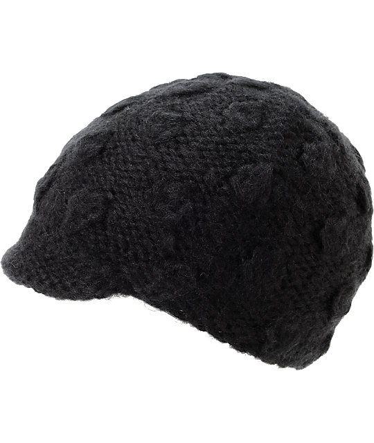 Coal Frida Black Visor Beanie