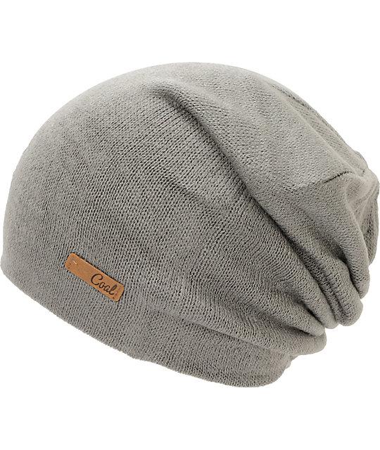 Coal Julietta Charcoal Grey Slouch Beanie  6c86926ddea