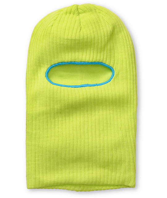 Coal Knit Clava Yellow Face Mask Beanie