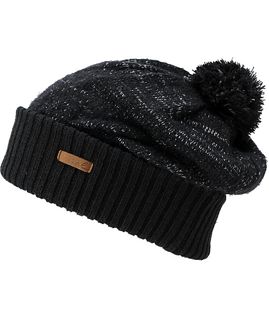 Coal Lilly Bean Black Beanie