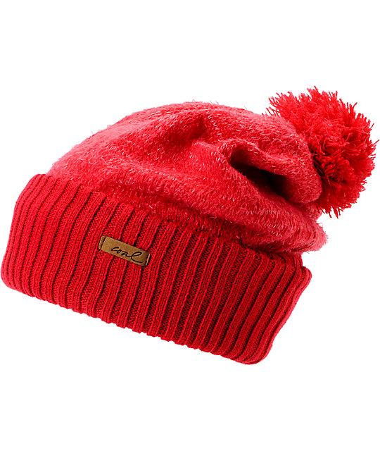 Coal Lily Red Pom Beanie  bf1f95bd135