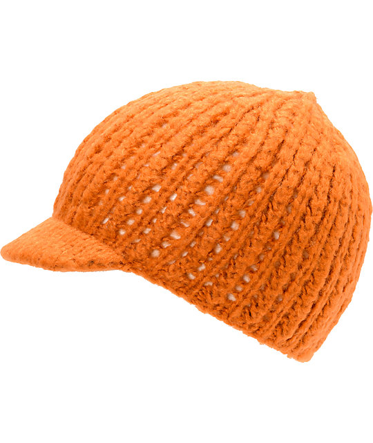Coal Mina Orange Visor Beanie