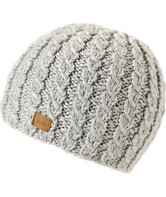 Coal Mini Grey Cable Knit Beanie