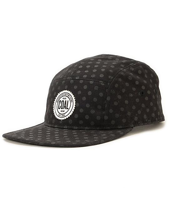 5a18f6bcb83 Coal Richmond Black Polka Dot 5 Panel Hat