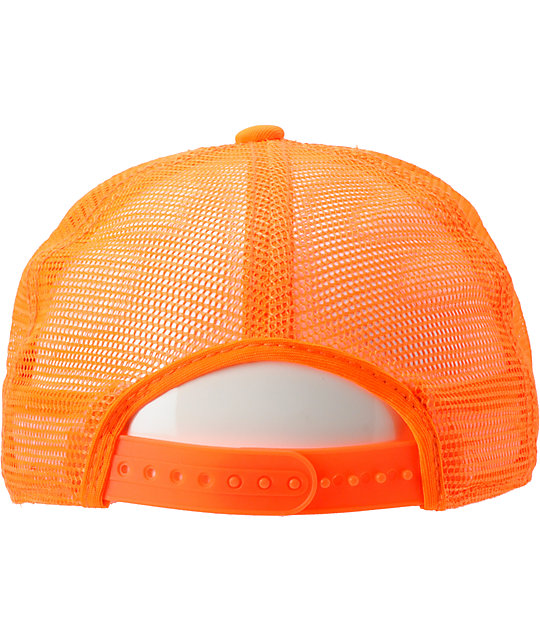 faf785247f56dd Coal The Arnie Neon Orange Trucker Hat | Zumiez