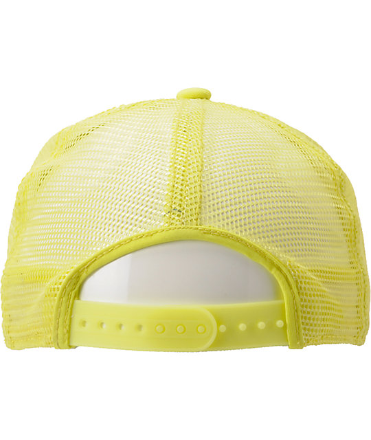 ca9e32fe3a6315 Coal The Arnie Neon Yellow Trucker Hat | Zumiez