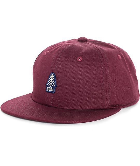 d43412aa107 Coal The Junior Burgundy Snapback Hat