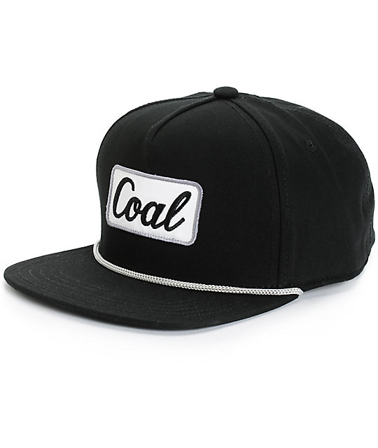 Coal The Palmer Black Snapback Hat