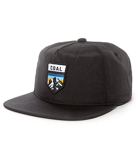 3c4a0c681ac Coal The Summit Black Nylon Snapback Hat