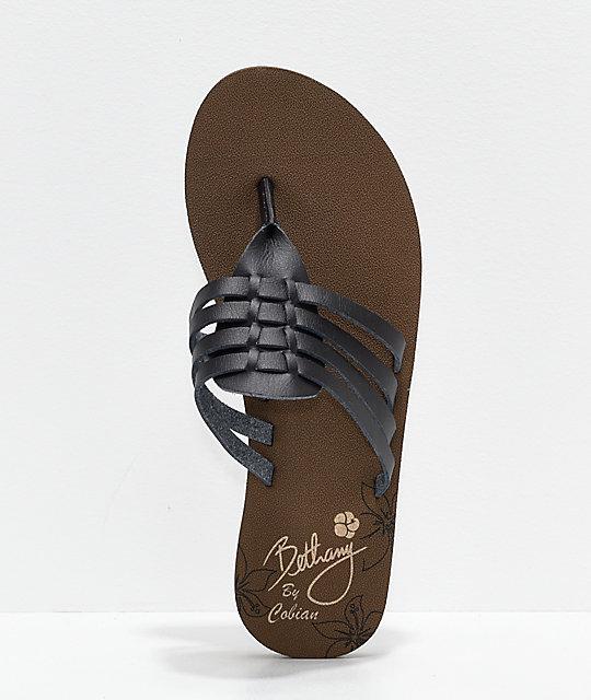f61c2c15ecc ... Cobian Aloha Multi-Strap Black Sandals ...