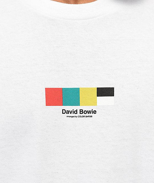 2f274417 Color Bars x David Bowie Sane White T-Shirt | Zumiez