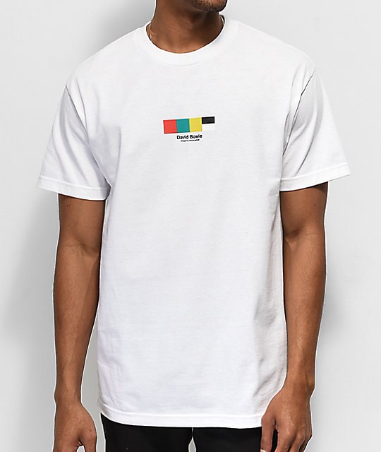 Color Bars x David Bowie Sane camiseta blanca