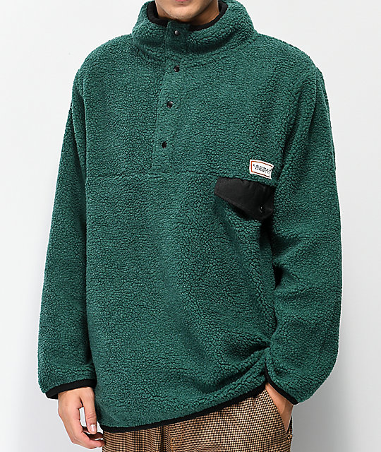 84fec80b6d8 Common Thrift Green Fleece Jacket