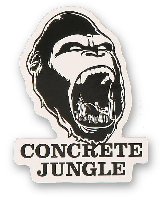 Concrete jungle gorilla teeth sticker