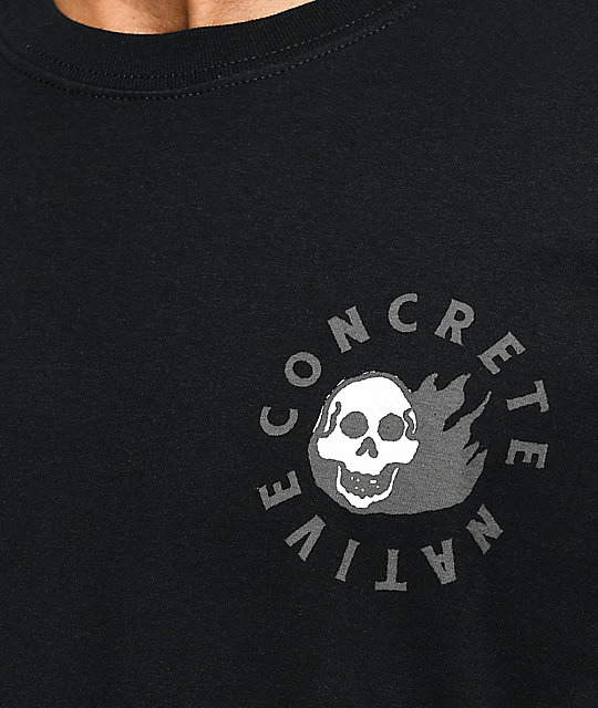 Concrete Native Skitchin Black T-Shirt
