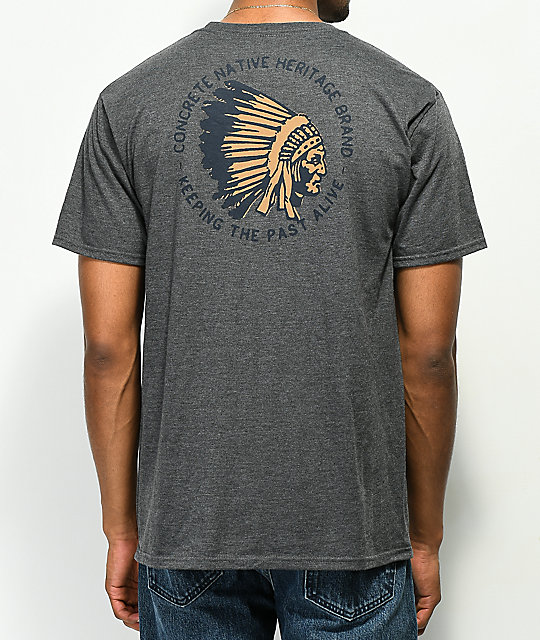 Concrete Native Tipi Grey T-Shirt