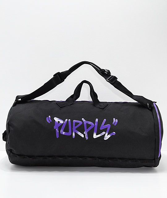 Converse 3 Way Black & Purple Duffle Bag