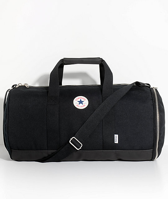 Converse All Star Barrel Black Duffel Bag  7f5d00bceda00