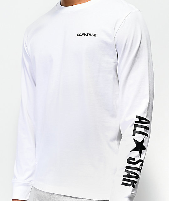 Converse All Star White Long Sleeve T-Shirt