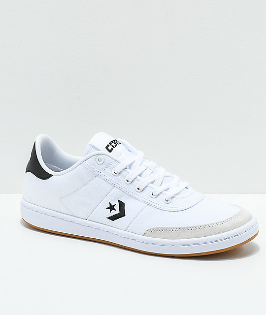 Converse Barcelona Pro Black & White Skate Shoes