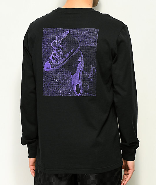 Converse CONS Black & Purple Long Sleeve T-Shirt