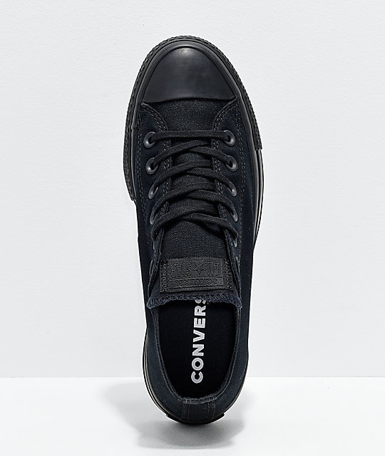 Converse CTAS Clean Lift Ox Black Platform Shoes