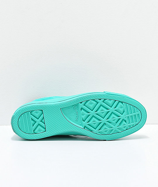 Converse CTAS Hi Mono Teal Suede Shoes
