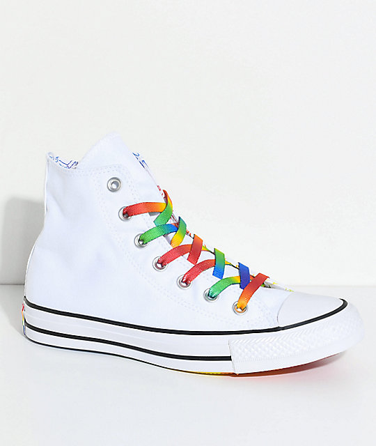 fc7165008b78 Converse CTAS Hi Pride Pack Multi-Colored   White Shoes