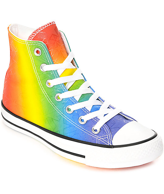 c825f4974247 Converse CTAS Hi Pride Pack White   Multi-Colored Shoes