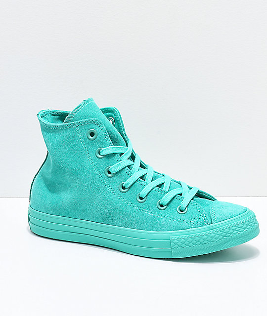 azulado Converse CTAS Hi zapatos de verde ante YwTqF