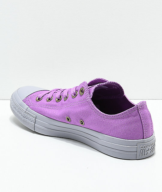 Converse CTAS Ox Dark Orchid & Grey Shoes