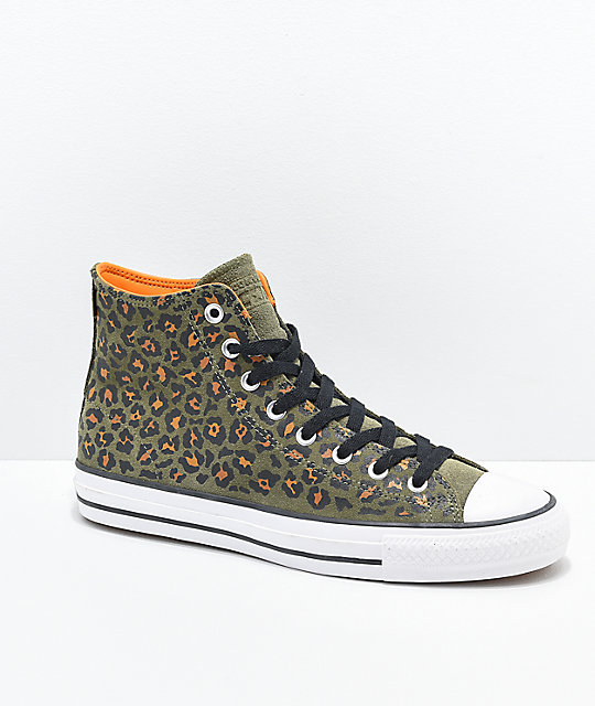 bad516c39bd Converse CTAS Pro Hi Leopard Print Skate Shoes