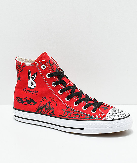 f74cf9e705bb Converse CTAS Pro Hi Sean Pablo Red Skate Shoes