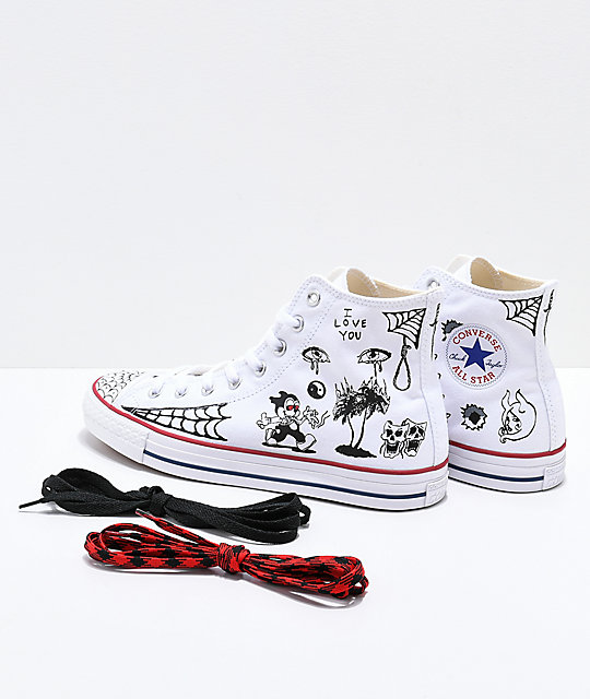 ... Converse CTAS Pro Hi Sean Pablo White Skate Shoes d408f61f1