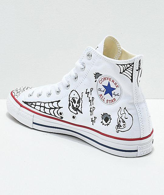 ... Converse CTAS Pro Hi Sean Pablo White Skate Shoes ... fffb8252e