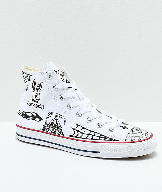 8e22a0dabfa Converse CTAS Pro Hi Sean Pablo White Skate Shoes