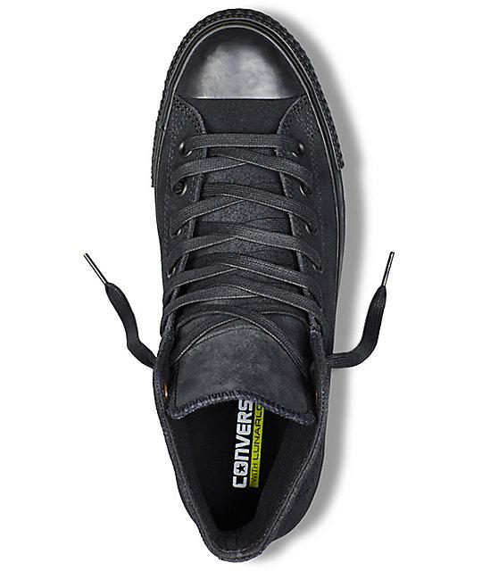 261769d54ada ... Converse CTAS Pro Hi Waxed Suede Black Shoes ...