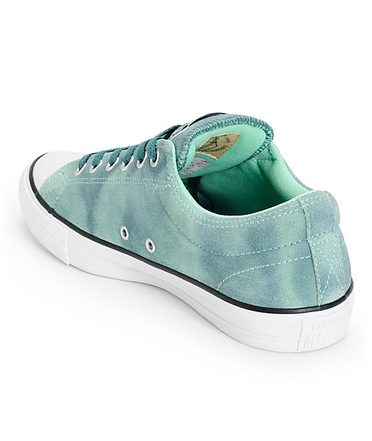 4a7b14b6c9fa ... Converse CTS Ox Green   Peppermint Suede Shoes ...