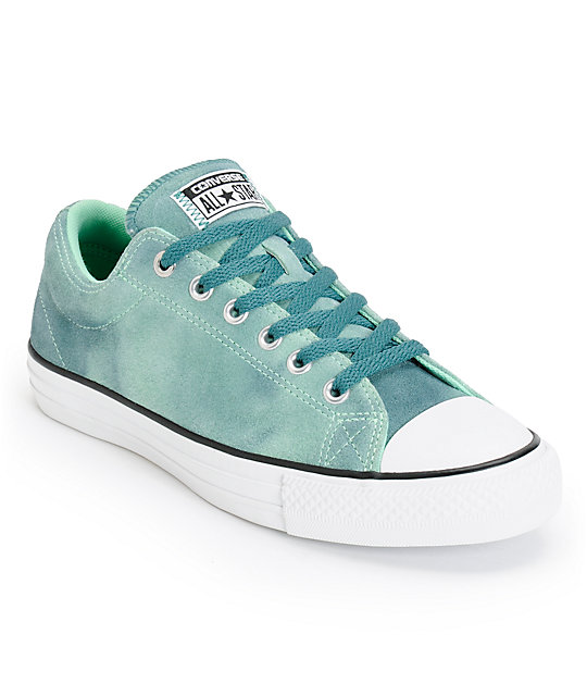 c9b9e4b33297 Converse CTS Ox Green   Peppermint Suede Shoes