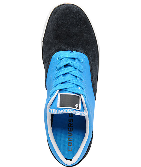 Converse CVO Blue, Black, & White Suede Shoes