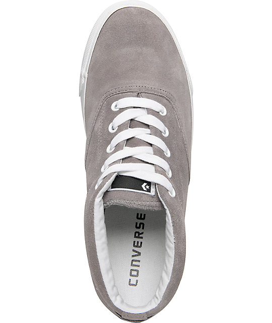 Converse CVO S Mid Phaeton Grey Suede Shoes
