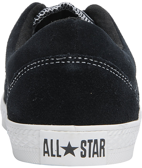 Converse CVO SE Black & White Suede Shoes