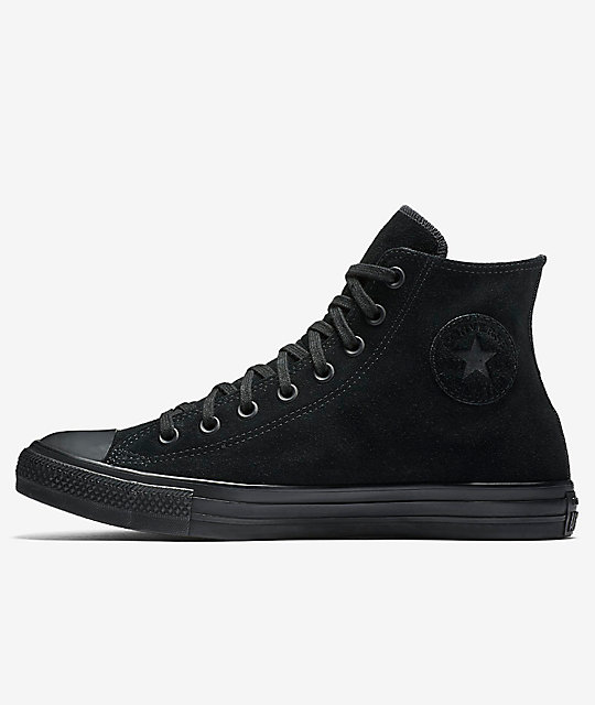 Converse Chuck Taylor All Star Black & Black Suede Shoes
