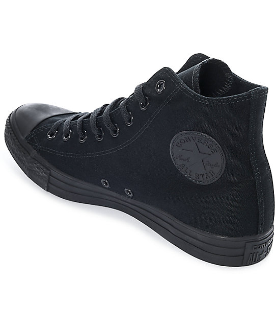 082ca246fe31 ... Converse Chuck Taylor All Star Black Hi Top Shoes ...