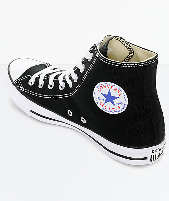 ... Converse Chuck Taylor All Star Black High Top Shoes ... 014c47129