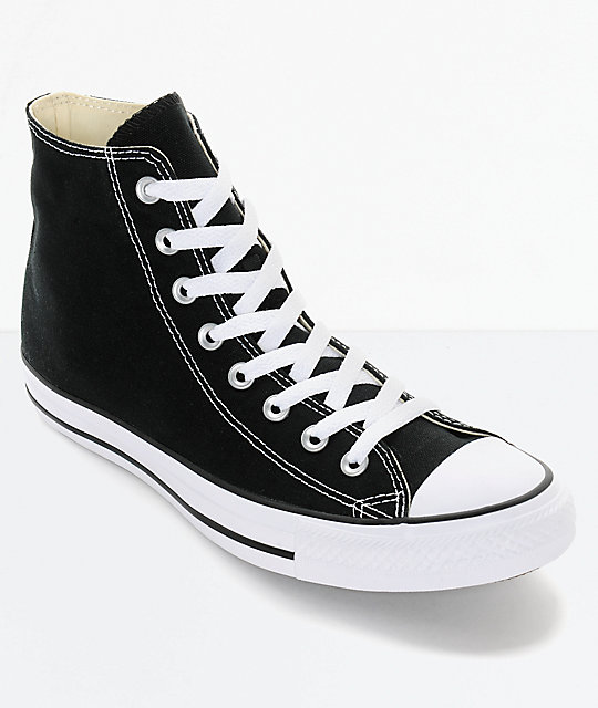 128a025bb7d7 Converse Chuck Taylor All Star Black High Top Shoes