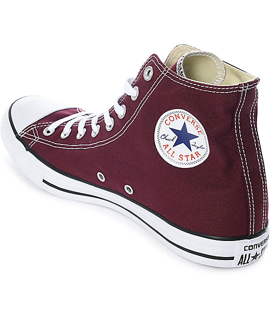 4b703dbb9805 ... Converse Chuck Taylor All Star Burgundy Shoes ...