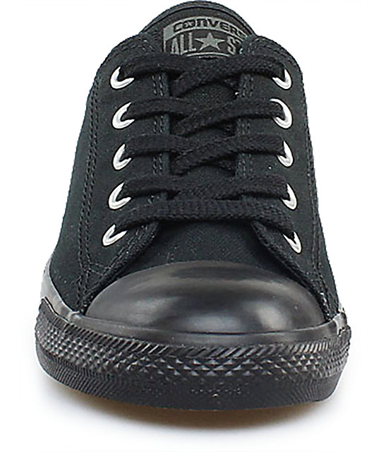 Converse Chuck Taylor All Star Dainty All Black Shoes (Womens)