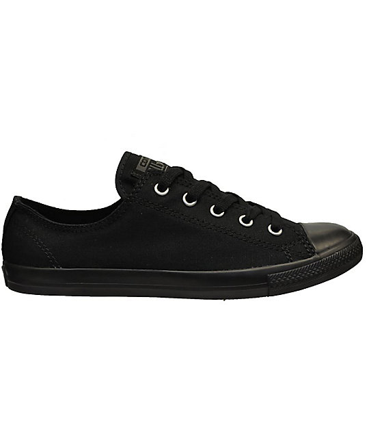 4e95e23aebbf Converse Chuck Taylor All Star Dainty All Black Shoes (Womens ...
