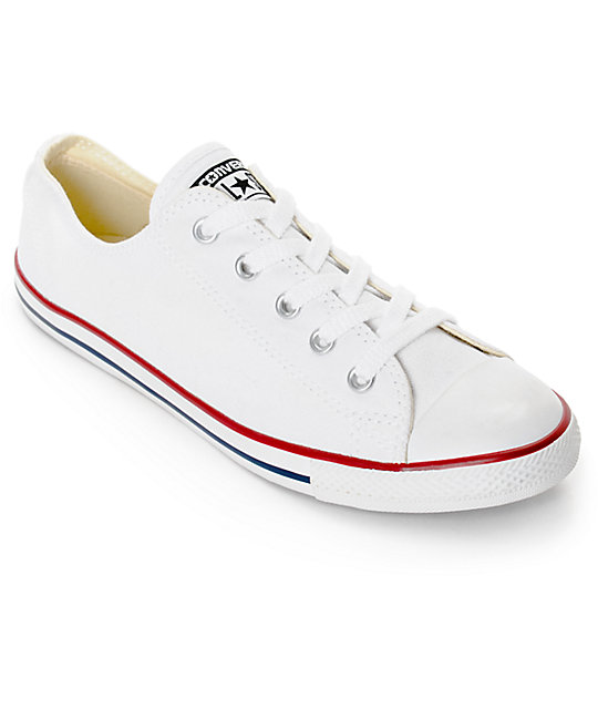 Converse Chuck Taylor All Star Dainty White Shoes (Womens)